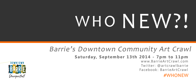 WHO NEW?! Barrie\'s Premiere Community Art Crawl – Aylan Couchie