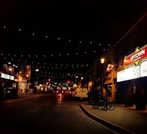 Downtown Barrie - Lights  Over Dunlop launch night - November 13, 2014