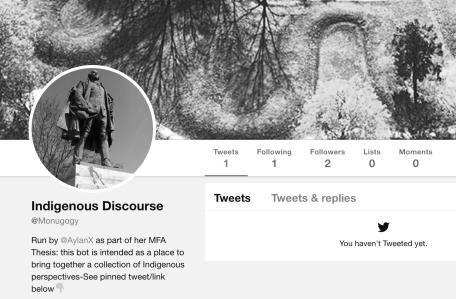 Screenshot of monugogy Twitter account